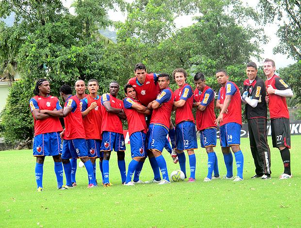 jogadores flamengo rachão treino (Foto: Richard Fausto / Globoesporte.com)