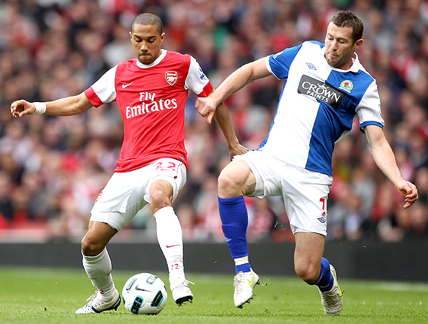 Gael Clichy Arsenal Brett Emerton Blackburn (Foto: Getty Images)