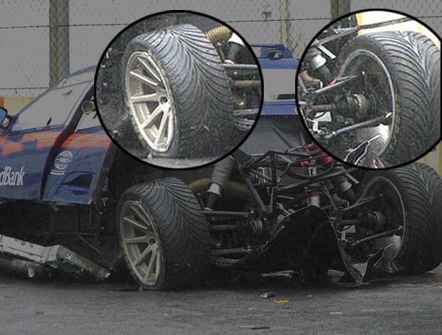 carro de Sonderman com os pneus trocados (Foto: Felipe Vieira / VelocidadeSul.com)