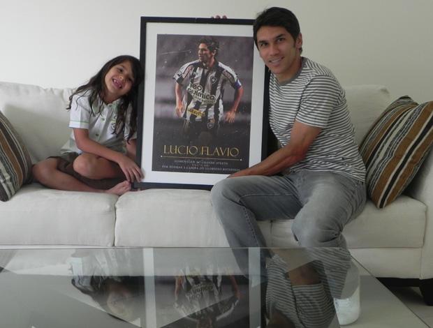 Lucio Flavio com a filha Lara (Foto: Divulgação)