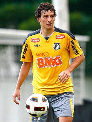 Elano no treino do Santos (Foto: Ricardo Saibun / Site Oficial do Santos)