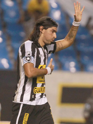 Comemoração Loco Abreu Botafogo x Paraná (Foto: Agência Globo)