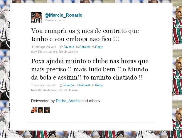 Márcio Rosário twitter reclamação (Foto: Reprodução / Twitter)