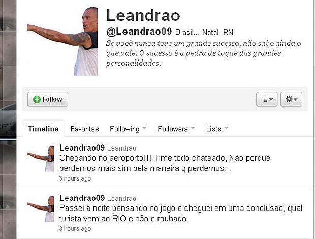twiter Leandrão derrota ABC (Foto: Reprodução / Twitter)