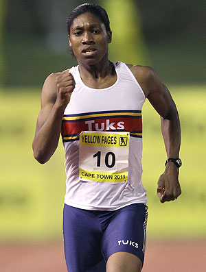 Caster Semenya na pista de atletismo (Foto: Getty Images)