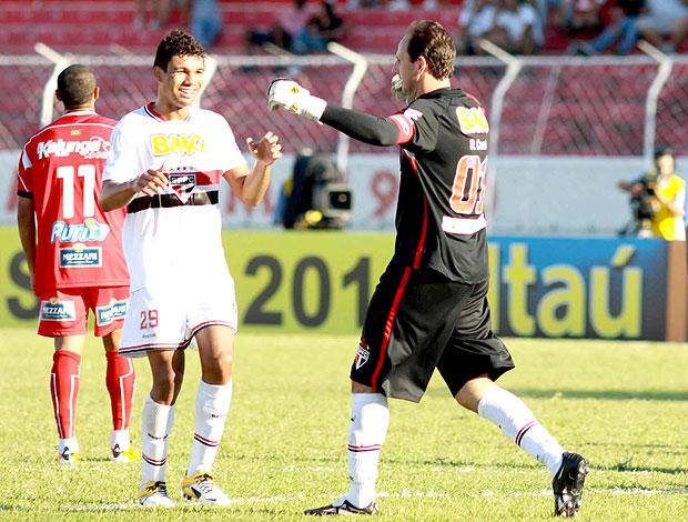 Rogério Ceni comemora gol contra o Noroeste (Foto: Futura Press)