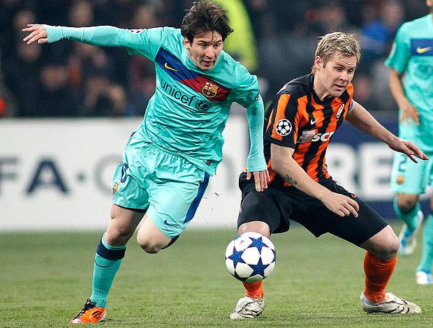 Messi na partida do Barcelona contra o Shakhtar (Foto: Reuters)