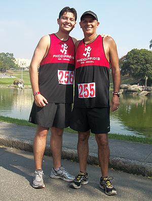 Marcelo Assunção e Lucas Assunção corrida de rua (Foto: Divulgação)