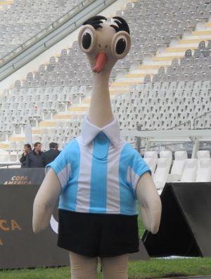 Suri, mascote oficial da Copa América (Foto: Leandro Canônico/GLOBOESPORTE.COM)