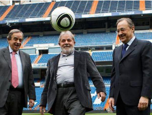 Lula visita o Real Madrid (Foto: Site do Real Madrid)