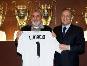 Lula visita o Real Madrid (Foto: Site do Real Madrid)
