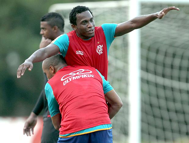Willians treino Flamengo (Foto: Cezar Loureiro / O Globo)