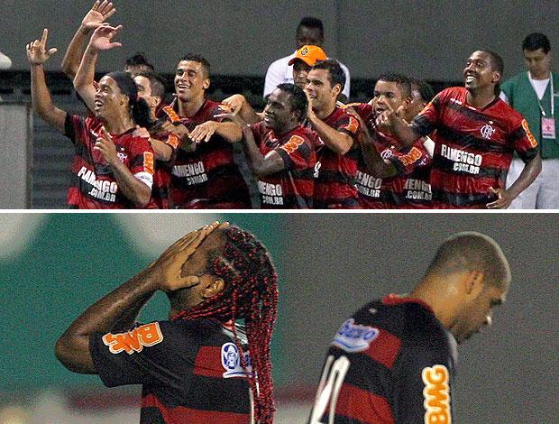 montagem Flamengo bonde x império do amor (Foto: Editoria de Arte / GLOBOESPORTE.COM)