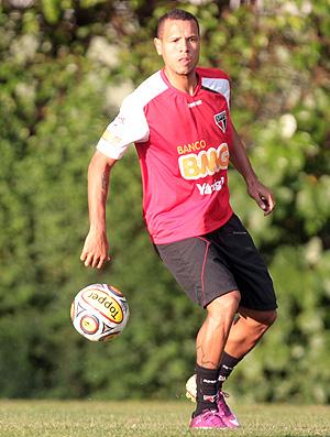 Luis Fabiano treino São Paulo (Foto: Ag. Estado)