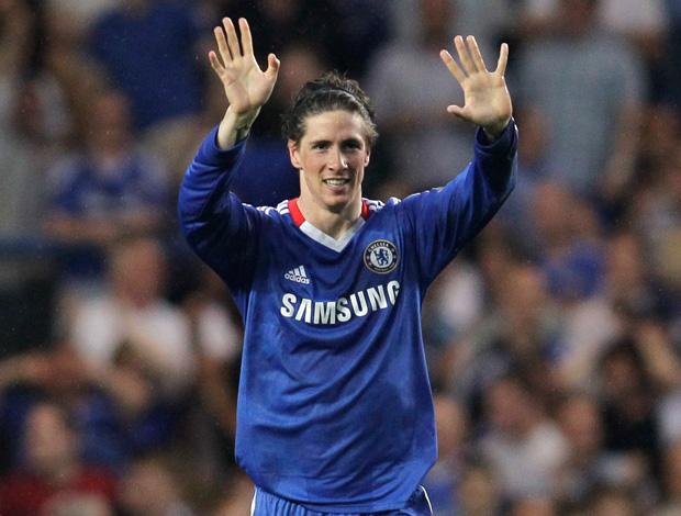 Comemoração Fernando Torres (Foto: AP)