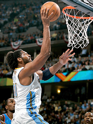 Nene Denver Nuggets Oklahoma City Thunder (Foto: Getty Images)