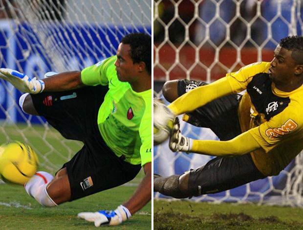 Montagem goleiro Bruno Felipe Flamengo (Foto: Montagem sobre foto do Globo)