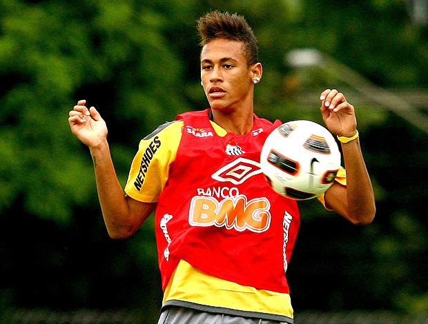 neymar treino Santos (Foto: Ag. Estado)