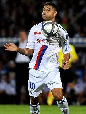 Ederson na partida do Lyon (Foto: Getty Images)