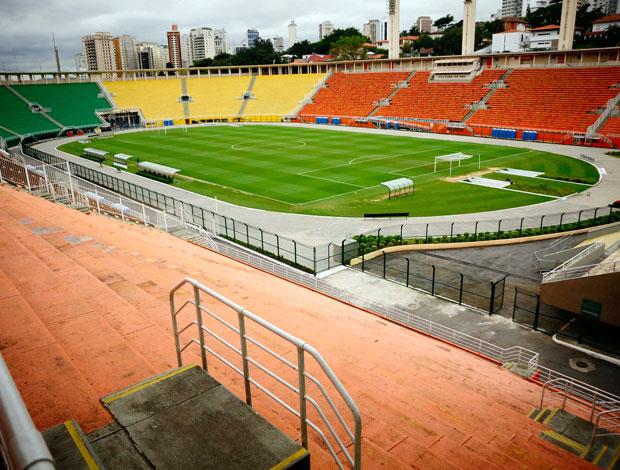 Visão que a torcida corinthiana vai ter no clássico de domingo pela semi final do Paulista 20011 (Foto: Marcos Ribolli / Globoesporte.com)