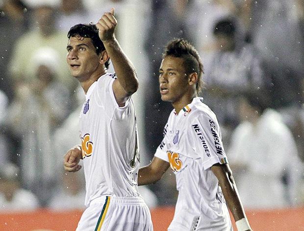 Ganso Neymar gol Santos (Foto: AFP)