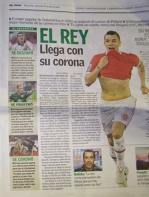 Jornal Dalessandro Internacional Uruguai (Foto: Alexandre Alliatti / Globoesporte.com)