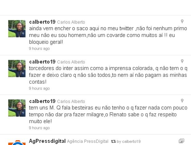 twitter carlos alberto grêmio (Foto: Reprodução/Twitter)