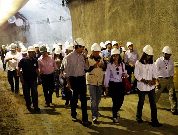 visita coi metrô (Foto: Gabriel de Paiva/Globo)