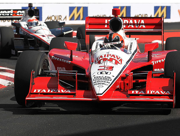 Helio Castroneves no treino da Indy (Foto: Getty Images)