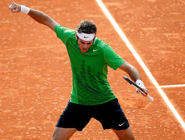 Del Potro comemora vitória sobre Pablo Cuevas (Foto: EFE)