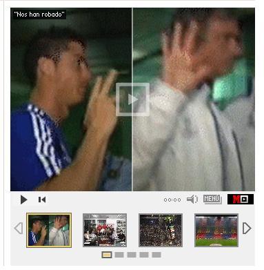 Frame Mourinho Cristiano sinal roubado real madrid (Foto: Reprodução / Marca)