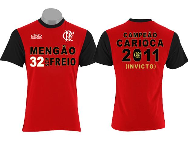 flamengo camisa comemorativa 32 títulos carioca (Foto: Divulgação)