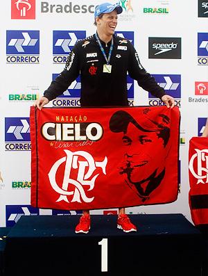 cesar cielo bandeira flamengo natação (Foto: Leandra Benjamin/Fla Imagem)