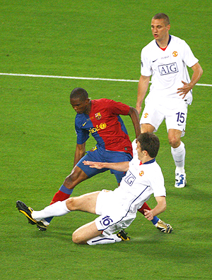 Etoo Barcelona x Manchester 2009 (Foto: Getty Images)