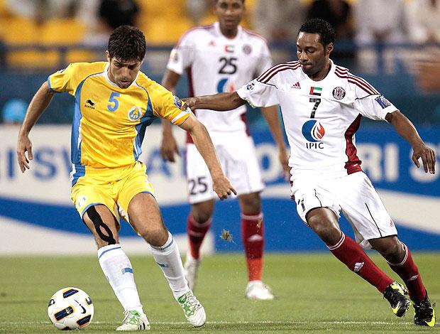 Juninho na partida do Al-Gharafa contra o Al-Jazira (Foto: Reuters)