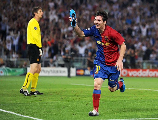 Messi Barcelona x Manchester 2009 (Foto: Getty Images)
