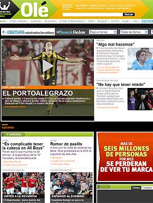 Olé Internacional x Peñarol (Foto: Olé)