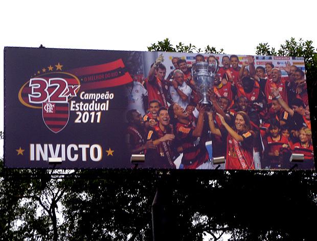 Outdoo Flamengo campeão carioca 2011 (Foto: Marcelo Baltar / Globoesporte.com)