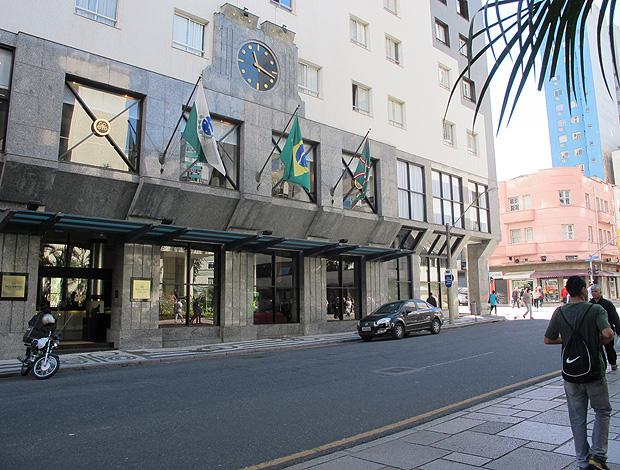 Região do hotel onde o Palmeiras está coritiba copa do brasil (Foto: Diego Ribeiro / Globoesporte.com)