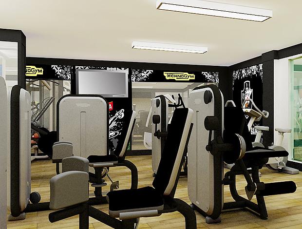 sala de musculação vasco (Foto: Divulgação)