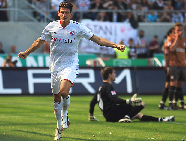 Mario Gomez gol bayern de munique (Foto: Getty Images)