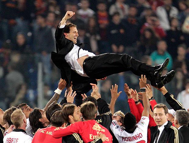 massimilano allegri milan campeão italiano (Foto: AP)