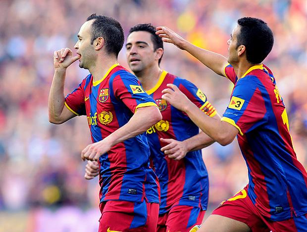 Iniesta gol Barcelona (Foto: AFP)