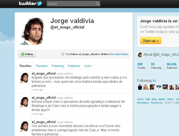 Twitter Valdivia (Foto: Reprodução)