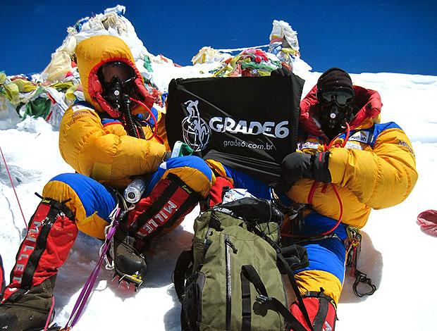 Carlos Canellas e Carlos Santalena Monte Everest (Foto: Divulgação / Grade6)