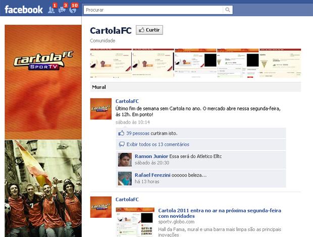 cartola facebook (Foto: Reprodução/Facebook)