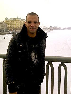 Diego Tardelli em São Petersburgo (Foto: Divulgação / Arquivo Pessoal)
