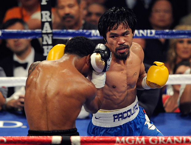 luta boxe manny Pacquiao Shane Mosley  (Foto: agência Getty Images)