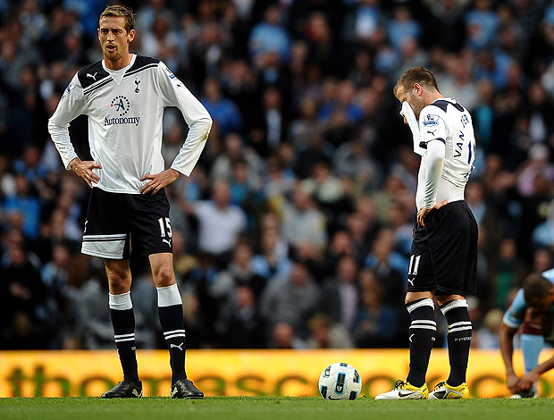MANCHESTER CITY X TOTTENHAM crouch (Foto: Getty Images)