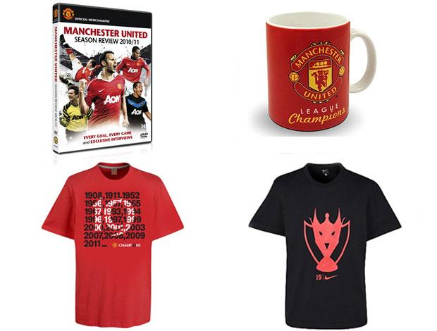 produtos Manchester United campeão (Foto: Divulgação / Site Oficial)